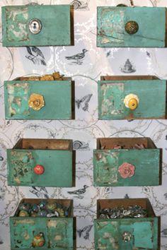 Little drawers for merchandising