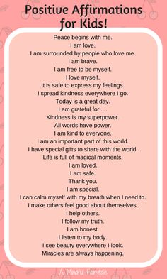 Positive affirmations for kids! - Positive affirmations for kids! Positive affirmations for kids! Gentle Parenting, Parenting Advice, Kids And Parenting, Peaceful Parenting, Parenting Classes, Parenting Memes, Positive Affirmations For Kids, Quotes Positive, Mindfulness For Kids