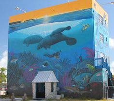 Wyland came and painted our building in Key Largo...fabulous!