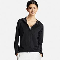 WOMEN WIND PROOF POCKETABLE FULL-ZIP HOODIE