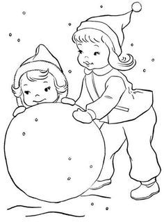 Winter Snow Fun Picture To Color These Free Printable Coloring Sheets And Pictures Are For Kids