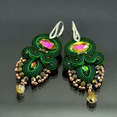 Soutache Earrings Berkilau - will add glamour to any outfit. Ideal for evening…