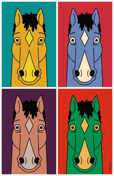 ryankallok: bojackhorseman Some Bojack pop art I made tonight