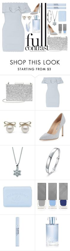 """""""Blue Gray"""" by fanfanfanfannnn ❤ liked on Polyvore featuring Aspinal of London, Alexander McQueen, Manolo Blahnik, Pré de Provence, Burberry, Elemis and Orlane"""