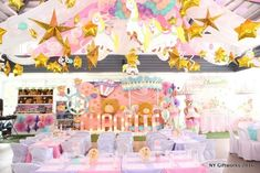 The decorations at this Bear Carnival Birthday Party are amazing!! See more party ideas and share yours at CatchMyParty.com