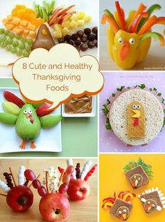 8 Cute and Healthy Thanksgiving Foods for Kids- repinned by @PediaStaff – Please Visit ht.ly/63sNtfor all our pediatric therapy pins.