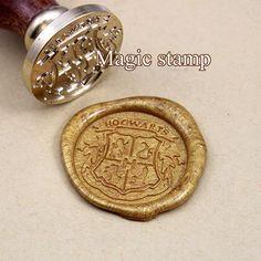 Harry Potter Poudlard école Badge cire sceller tampon, timbre mariage, timbre de sceau de cire partie, jeu de timbres de Poudlard cire seal