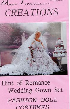Crochet Barbie Doll Wedding Dress Mary Layfield's Creation Pattern ...