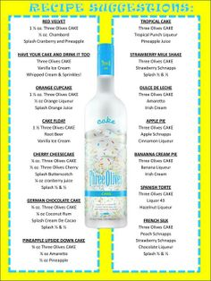 Cake vodka recipes!