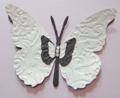 Embossed Handmade Butterfly Embellishment Craft Punch Pearl