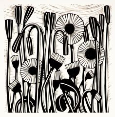 Helen Roddie, UK artist, makes GORGEOUS  linocuts.