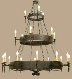 Warick 21 Light 3 Tier Old World/Gothic Chandelier (Free Shipping / Ships In: Made to Order and Ships in 5-7 Weeks)
