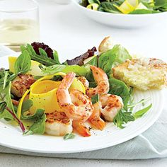 Shrimp and Herb Salad | CookingLight.com #protein #vegetables #myplate