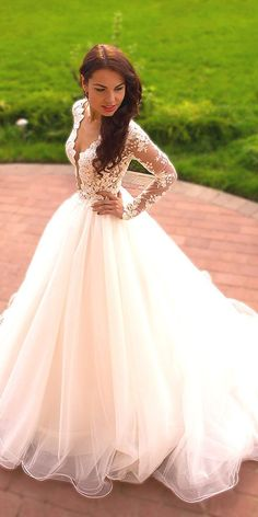 Crystal Beaded Bodice Long Sleeve Wedding Dress,Ball Gown Tulle Skirt Bridal Dress,Sparkly Wedding Gown sold by DiyDresses. Shop more products from DiyDresses on Storenvy, the home of independent small businesses all over the world. V Neck Wedding Dress, 2016 Wedding Dresses, Luxury Wedding Dress, Long Sleeve Wedding, Princess Wedding Dresses, Wedding Gowns, Elegant Wedding, Prom Dresses, Wedding Venues