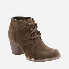 The chic Clarks Carleta Lyon Ankle Bootie teams well with skinny jeans and fluffy socks for that perfect cold weather look. The comfy Cushion Plus™ fuses with an OrthoLite® sheet footbed and durable f Black Ankle Boots, Ankle Booties, Sock Shoes, Shoe Boots, Suede Shoes, Leather Shoes, Women's Pumps, Me Too Shoes, Lyon