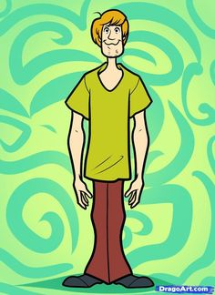 Hey Scooby, where are you buddy? In this tutorial I will guide you to learn how to draw Shaggy from the hit cartoon series Scooby Doo. William Hanna, Scooby Doo Wallpaper, Disney Drawings, Cartoon Drawings, Cartoon Network Characters, Disney Characters, Hanna Barbera, Desenho Scooby Doo, Shaggy Scooby Doo