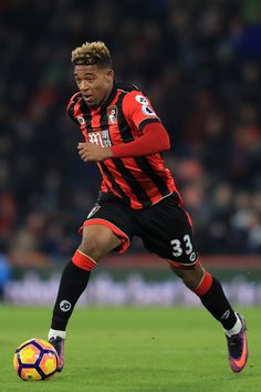 Jordon Ibe Photos - Jordon Ibe of Bournemouth in action during the Premier League match between AFC Bournemouth and Watford at Vitality Stadium on January 2017 in Bournemouth, England. - AFC Bournemouth v Watford - Premier League Bournemouth England, Afc Bournemouth, Young Football Players, Premier League Matches, Watford, Squad, January 21