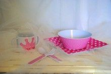 Let's Eat: 5 piece princess place setting includes plate, bowl, sippy cup with fork and spoon