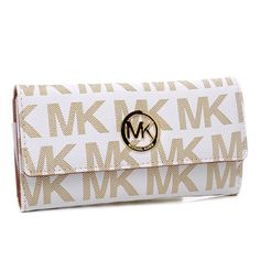 Michael Kors Envelope Logo Large Vanilla Wallets.More than 60% Off, I enjoy these bags.It's pretty cool (: Check it out! | See more about fashion icons, michael kors and envelopes.