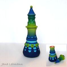 Bottle by feeliz, via Flickr  Jana Lehmann is one of my favorite PC artists!! So whimsical!