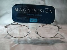 Magnivision Terry Silver Oval Reading Glasses Spring Hinges +1.00 1.25 2.00 2.75 #Magnivision