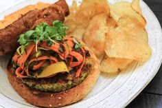 If you are celebrating National Burger Day.why not do it with a delicious Veggie Burger! Check out these 100 Fantastic Veggie Burger Recipes! One Pot Vegetarian, Vegetarian Recipes, Vegetarian Dinners, Turkey Burger Recipes, Ginger Sauce, Pasta Primavera, Homemade Pickles, Food Is Fuel, Asian
