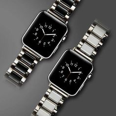 Stainless Steel + Ceramics Bracelet Band Strap for Apple Watch 38mm 42mm