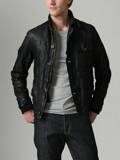 Gilded Age Leather Deck Jacket