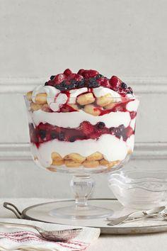 Vanilla Yogurt and Berry Trifle - CountryLiving.com