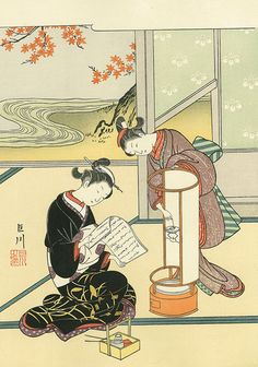 size: Giclee Print: Evening Glow of the Lantern, after 1766 by Suzuki Harunobu : Geisha, Canvas Art, Canvas Prints, Japanese Painting, Art Institute Of Chicago, Japanese Prints, Japan Art, Woodblock Print, Figurative Art