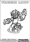 printable colouring sheet with the skylanders swap force character rattle jet one of the many different printable coloring pages here at wwwprint