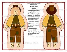 Primitive Andy Scarecrow Cut and Sew Doll by Linda Walsh