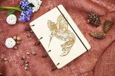 Wooden notebook Christmas gift Customization Engraved от DecoLazer