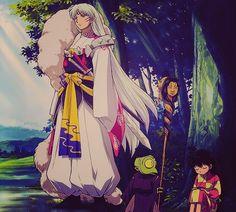 Sesshomaru, Jaken, and Rin - InuYasha screenshot screencap