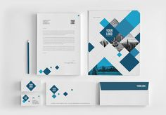 MODERN BLUE SQUARES BROCHURE This brochure is an ideal way to showcase your properties. It is a horizontal design, available in A4 and Letter paper formats. It contains 28 pages, which you can du...