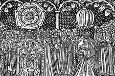 Woodcut of Henry VIII and Catherine of Aragon at their coronation
