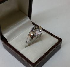 Ring 925er Silber mit klarem Kristallstein von Schmuckbaron auf Etsy