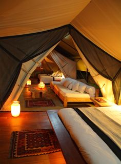luxury tented safari camp in Kenya