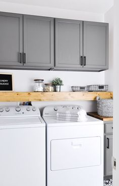Gorgeous Small Farmhouse Laundry Room Design Ideas, The room has a lot of the original capabilities. It's so awful whenever your room is dirty and untidy. Living room is comparable to a heart from some . Laundry Cabinets, Mudroom Laundry Room, Laundry Room Remodel, Farmhouse Laundry Room, Laundry Room Design, Laundry In Kitchen, Diy Cabinets, Laundry Room Colors, Laundry Storage