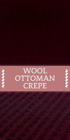 Wool Lycra Ottoman Crepe in Wine Red