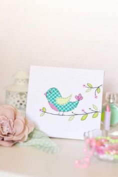 Contempory and cute cross stitch