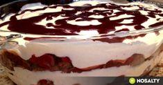 Feketeerdő rakott piskóta recept képpel. Hozzávalók és az elkészítés részletes leírása. A feketeerdő rakott piskóta elkészítési ideje: 95 perc Mini Desserts, Desserts In A Glass, Summer Desserts, Hungarian Desserts, Hungarian Recipes, Torte Cake, Czech Recipes, Pinterest Recipes, Cakes And More
