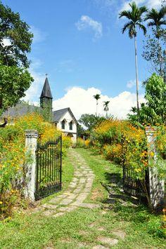 Church in Mawlynnong village, Meghalaya state, India