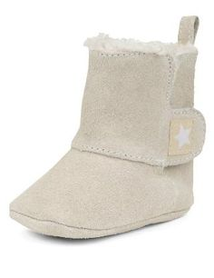Suedette Faux Fur Riptape Booties - Marks & Spencer. For a girl!