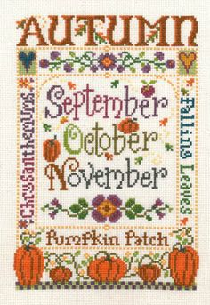 cross stitch seasons | ... imaginating cross stitch patterns kits the four seasons cross stitch