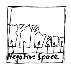 chairs, line drawing of negative space