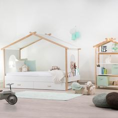 Nice Deco Chambre Lit Cabane that you must know, You?re in good company if you?re looking for Deco Chambre Lit Cabane Kids Double Bed, Double Bunk Beds, Modern Bunk Beds, Attic Bedroom Designs, Attic Renovation, Attic Remodel, Kids Bunk Beds, Bed With Drawers, House Beds