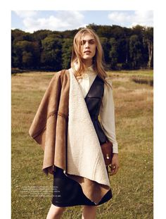 visual optimism; fashion editorials, shows, campaigns & more!: into the wild: hedvig palm by jette jørs for eurowoman september 2014