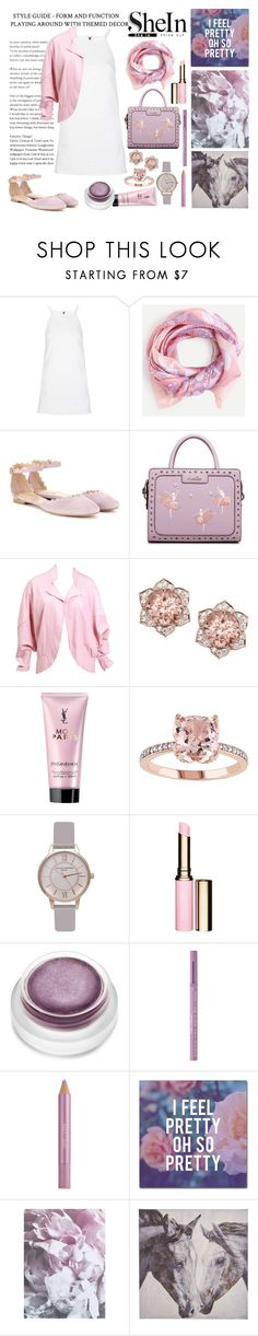 """in the garden"" by ztugceuslu ❤ liked on Polyvore featuring Topshop, Chloé, Handle, Yves Saint Laurent, Clarins, Too Faced Cosmetics, Estée Lauder, Trademark Fine Art, WALL and Pier 1 Imports"
