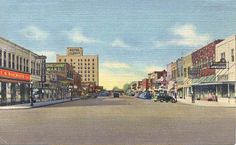 A painting of Main Street in Clovis NM. Lucky? not so sure- lived here twice!